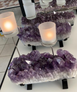 Amethyst Cup Candles