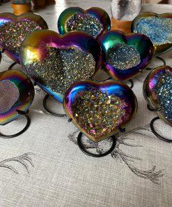 Rainbow Hearts Iron Base