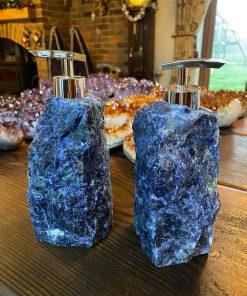 Sodalite Quartz Soap Dispenser