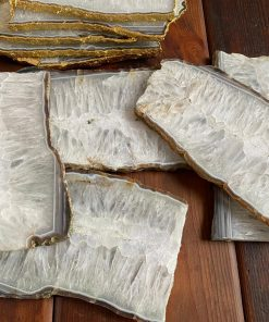White Agate Natural Platters