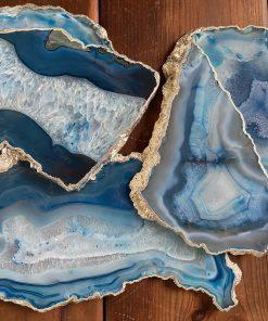 Blue Silver Edge Agate