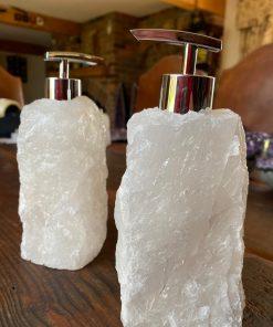 White Quartz Soap Dispenser